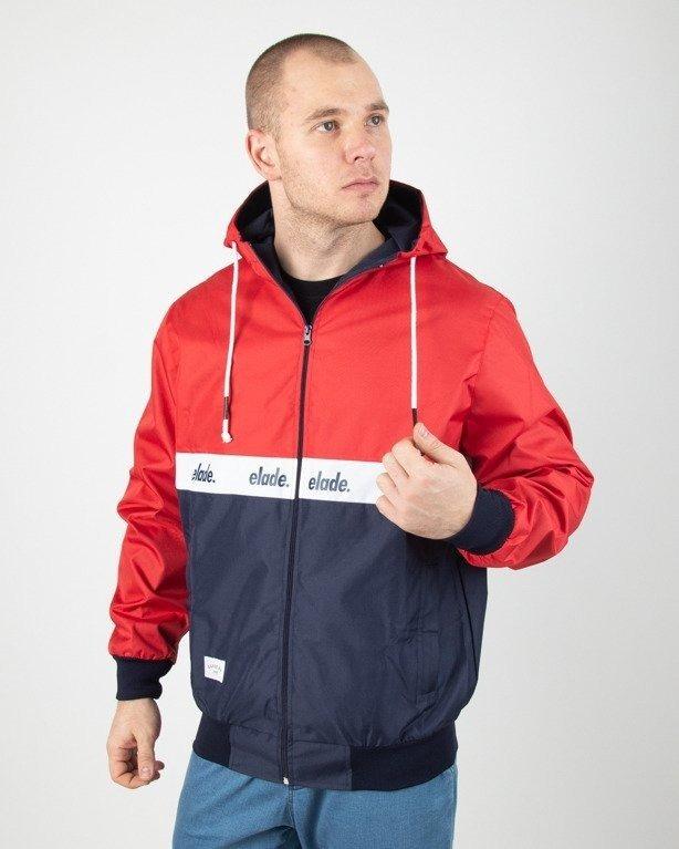 Kurtka Elade Wiatrówka Zip Stripe Red-Navy