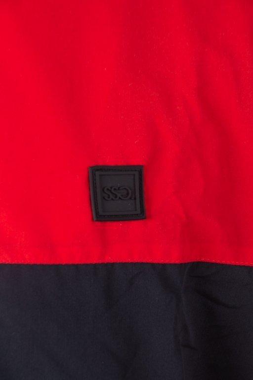 Kurtka SSG Wiatrówka Zip Half Colors Red-Black