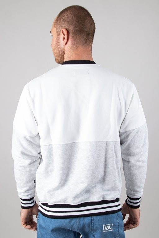 LUCKY DICE CREWNECK CUT WHITE-MELANGE