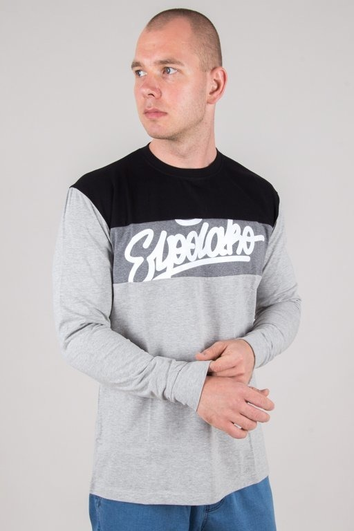 Longsleeve El Polako 3 Colors Written Black-Grey