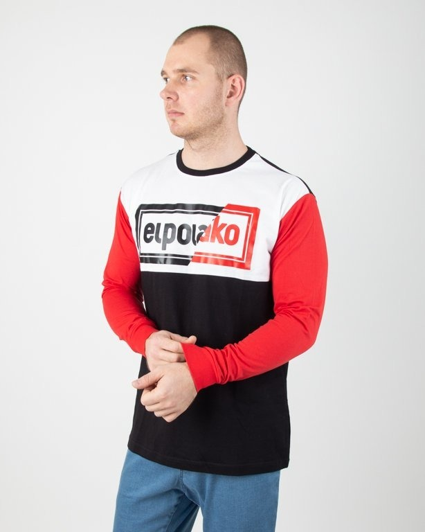 Longsleeve El Polako Cut Color Black-Red