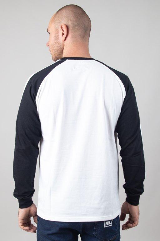 Longsleeve Lucky Dice Raglan Stripe White-Black