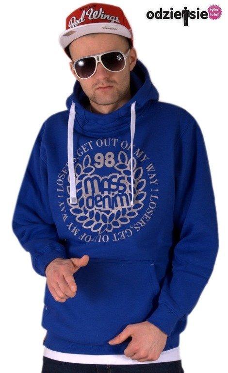 MASS BLUZA Z KAPTUREM BASE 013 DARK BLUE