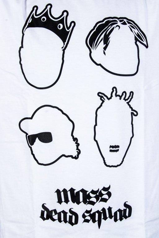 MASS T-SHIRT DEAD SQUAD WHITE