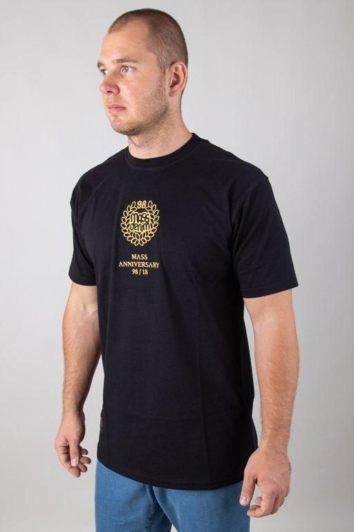 MASS T-SHIRT GOLDEN CROWN BLACK