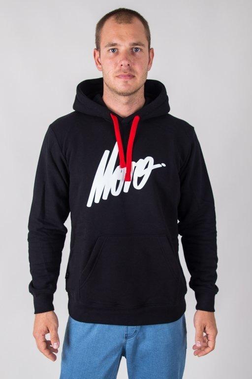 MORO HOODIE SLANT TAG18 BLACK