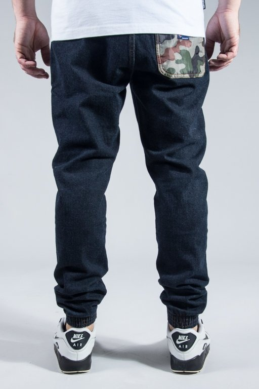 MORO SPORT PANTS JEANS JOGGER CAMO POCKET DARK