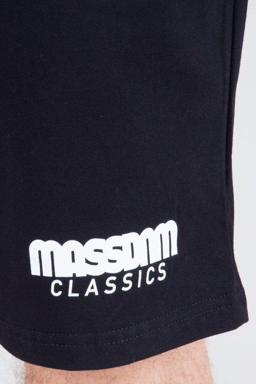 Mass Krótkie Spodenki Dresowe Classic Black