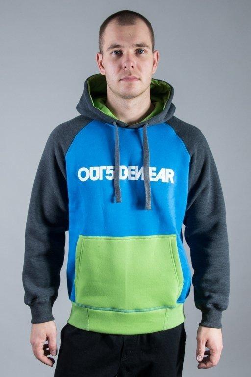 OUTSIDEWEAR HOODIE 3COLORS BLUE-GREEN