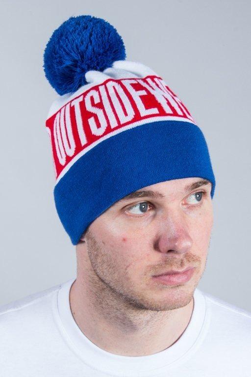 OUTSIDEWEAR WINTER CAP POMPON WILD WHITE-BLUE