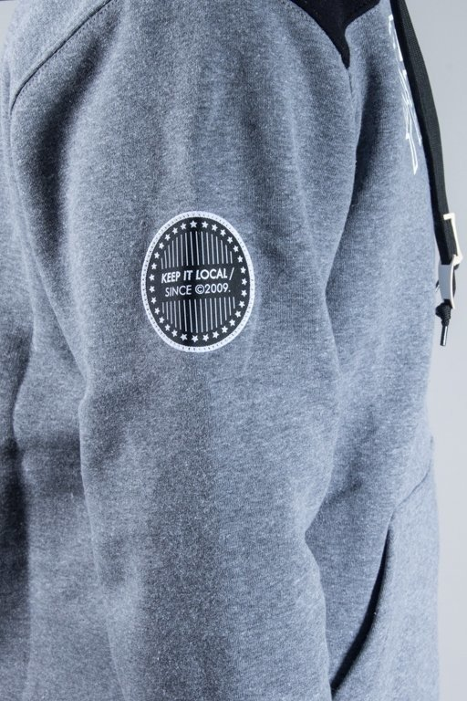 Patriotic Bluza Z Kapturem 10 Neck Grey-Black