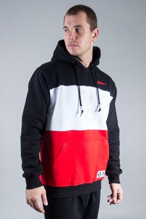 PATRIOTIC HOODIE CLS TRIO BLACK-WHITE-RED