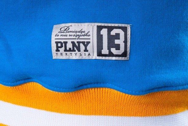 PLNY BLUZA BEZ KAPTURA BACK TO THE ROOTS BLUE