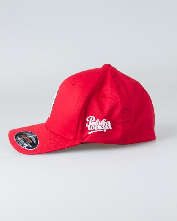 POLSKA WERSJA CAP FLEXFIT PW RED