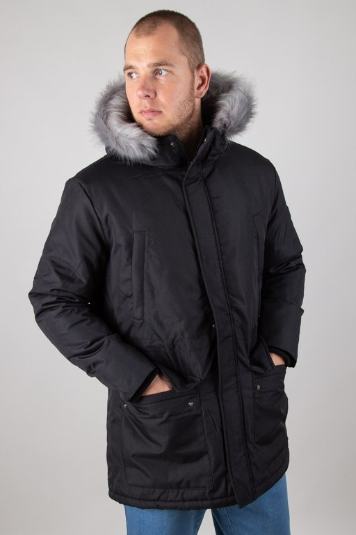 PROSTO WINTER JACKET LONG BLACK