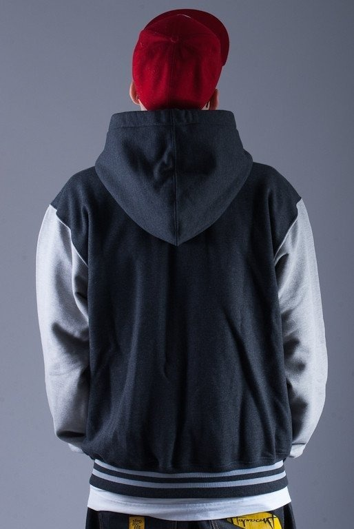 SSG BLUZA  KAPTUREM ZIP BIG G GREY-MELANGE