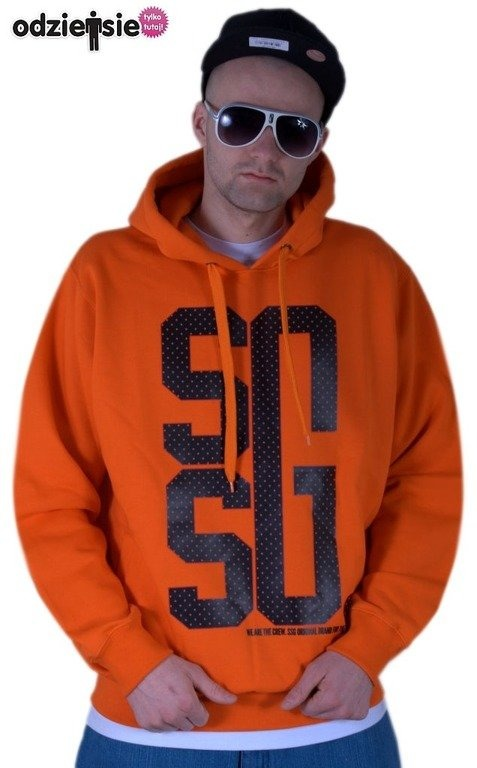 SSG BLUZA Z KAPTUREM BIG G ORANGE