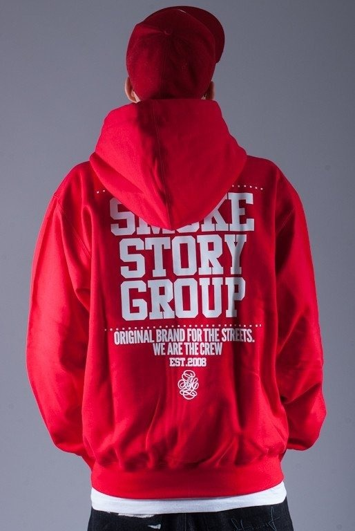 SSG BLUZA Z KAPTUREM ZIP SMGROUP BACK RED
