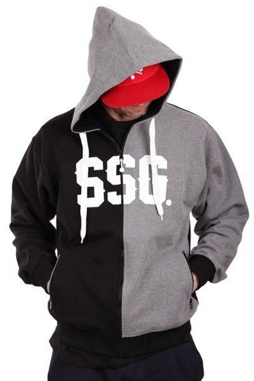 SSG BLUZA ZIP HORIZONTAL BLACK-GREY