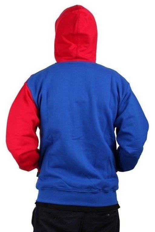 SSG BLUZA ZIP HORIZONTAL RED-BLUE