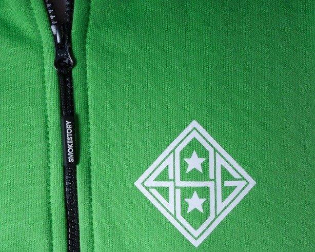 SSG BLUZA ZIP STAR BLACK-GREEN