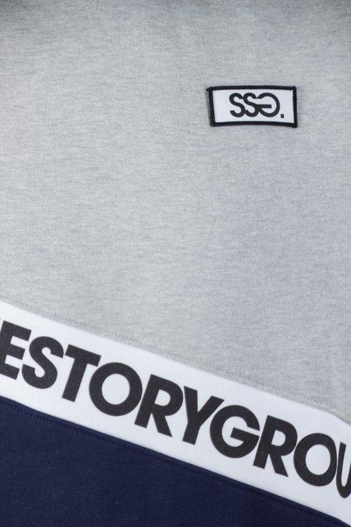 SSG HOODIE SLANT SMG GREY-NAVY
