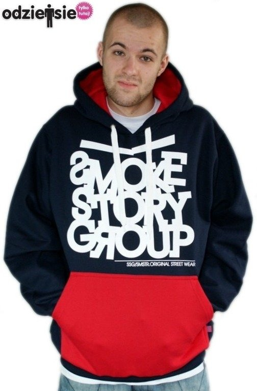 SSG SMOKE STORY GROUP BLUZA SMG LINE NAVY