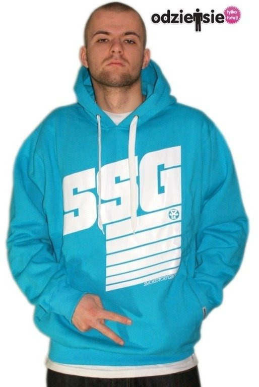 SSG SMOKE STORY GROUP BLUZA STRIPS BLUE-WHITE