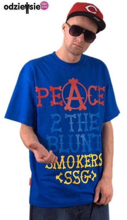SSG SMOKE STORY GROUP KOSZULKA PEACE NAVY BLUE