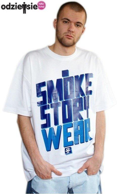SSG SMOKE STORY KOSZULKA SM WEAR WHITE-BLUE