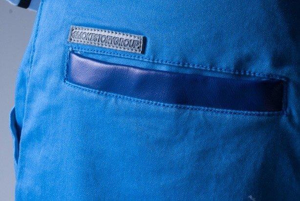 SSG SPODNIE CHINO REGULAR BLUE