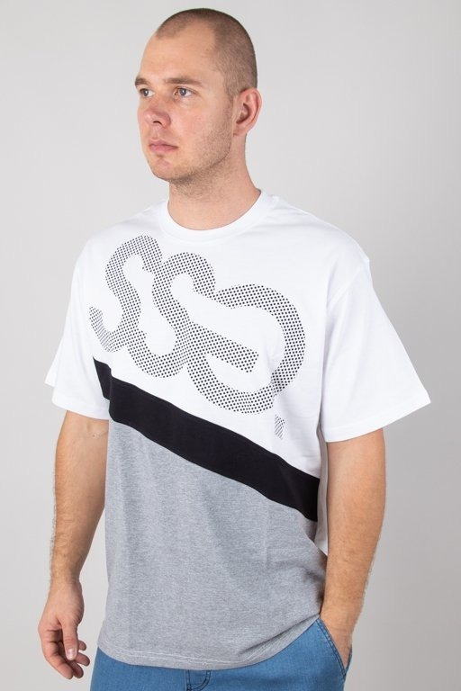 SSG T-SHIRT DOTS TRIPLE WHITE-GREY