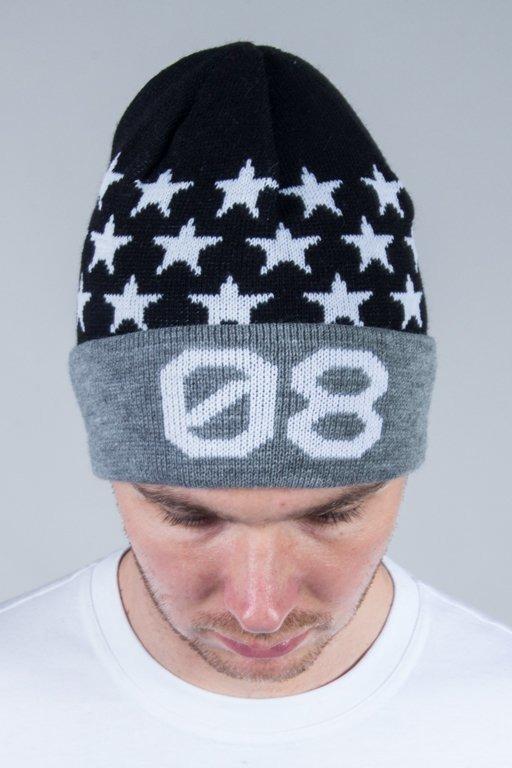 SSG WINTER CAP WYWIJANA STAR 08 BLACK-GREY