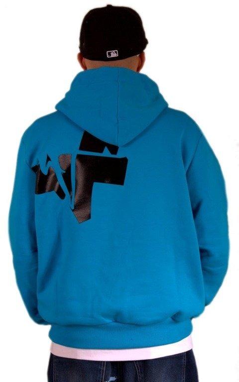 STOPROCENT BLUZA Z KAPTUREM FRONT BACK 3D BLUE