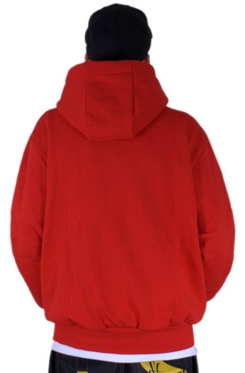 STOPROCENT BLUZA Z KAPTUREM ZIP SPATTER CUBE RED
