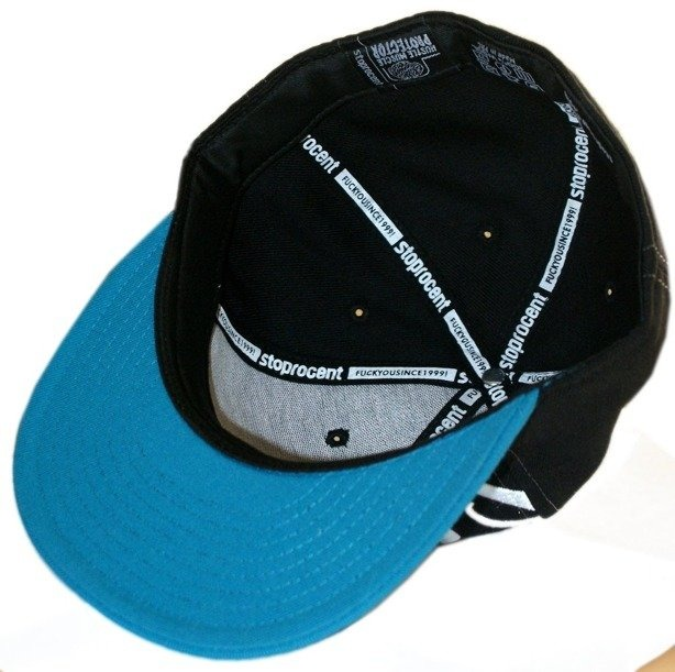 STOPROCENT CZAPKA FULLCAP FRONT TAG BLACK-BLUE