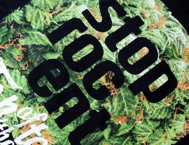 STOPROCENT KOSZULKA GRASS CUBE BLACK