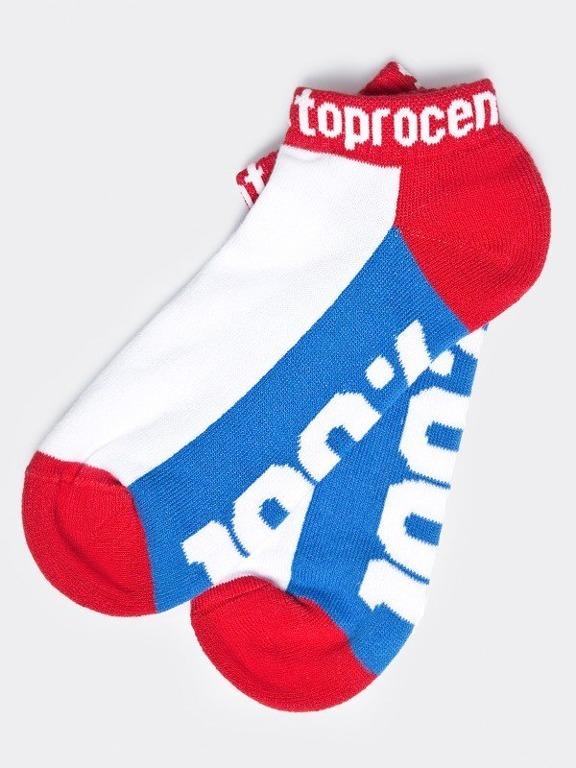 STOPROCENT SOCKS SHORT 100 BLUE-RED