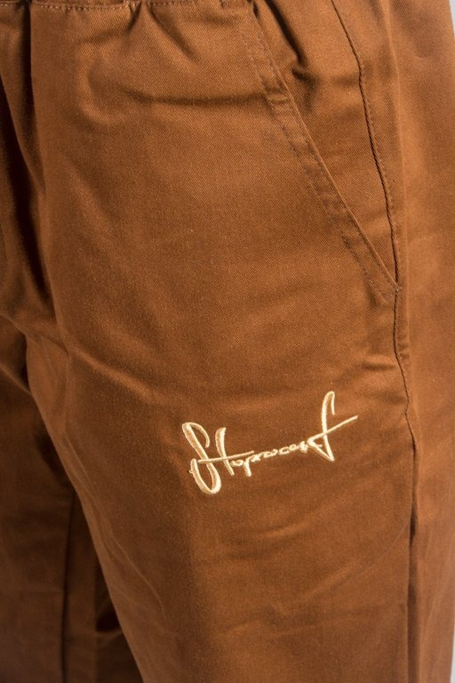 STOPROCENT SPODNIE CHINO JOGGER BROWN