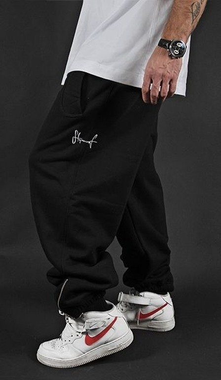 STOPROCENT SPODNIE DRESOWE SMALL TAG BLACK-WHITE
