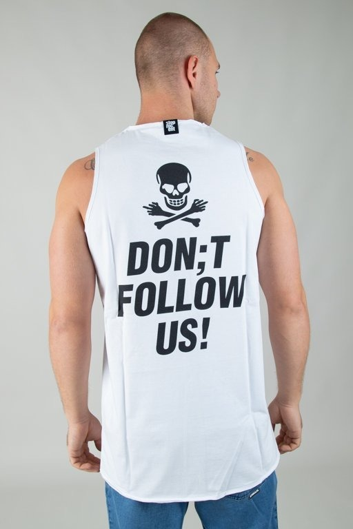STOPROCENT TANK TOP UNFOLLOW WHITE