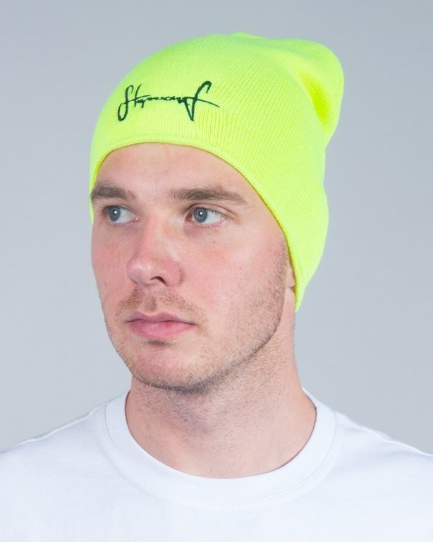 STOPROCENT WINTER CAP SMALLTAG16 TOXIC YELLOW