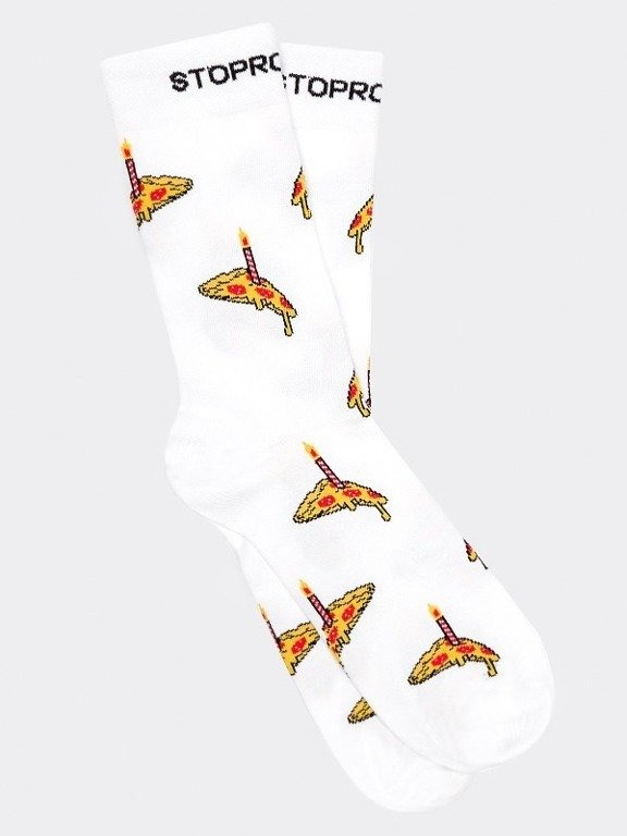 Skarpetki Długie Stoprocent Pizza White