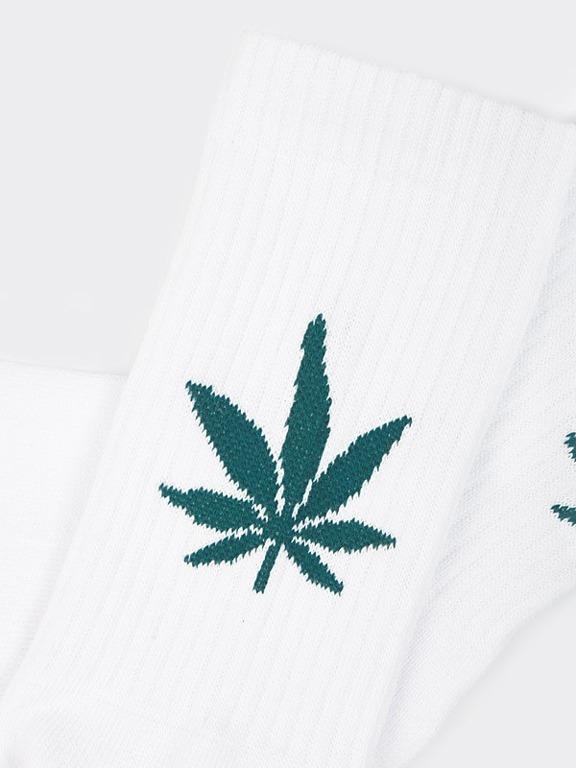 Skarpetki Stoprocent Leaf White
