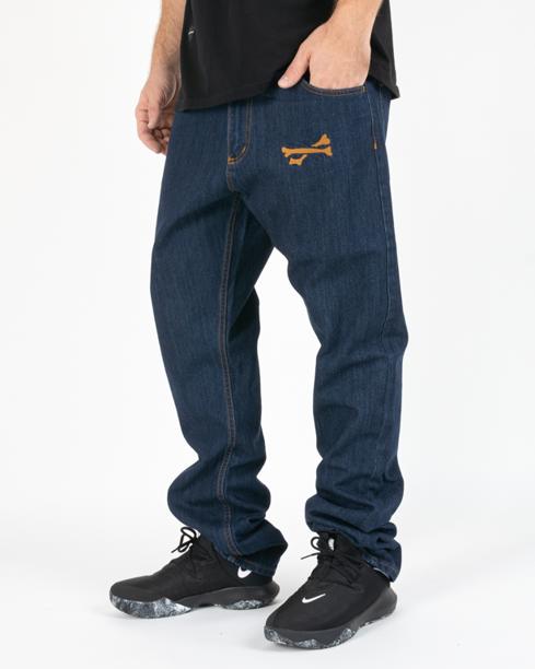 Spodnie Brain Dead Familia Jeans Killers Dark Blue
