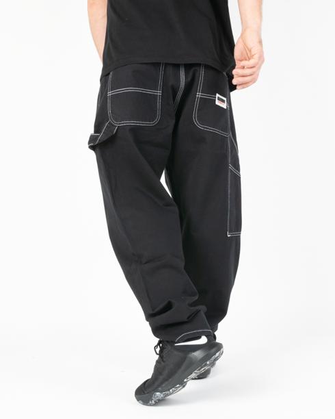 Spodnie Chino Baggy Fit Mass Worker Black