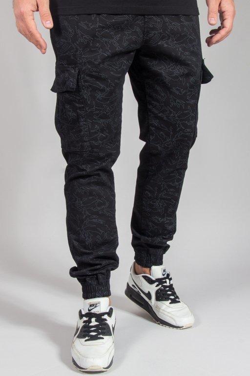 Spodnie Diamante Wear Chino Jogger Flight School Black