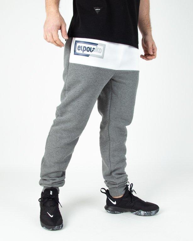 Spodnie El Polako Dresowe Fit Cut Color Grey