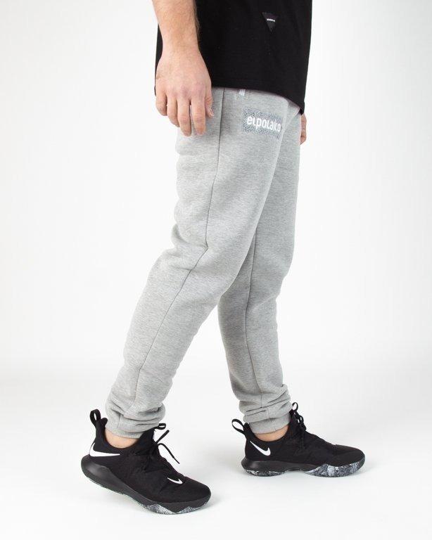 Spodnie El Polako Dresowe Fit Logobox Melange