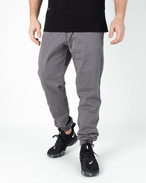 Spodnie El Polako Jogerry Jeansowe Slim Skórka Grey